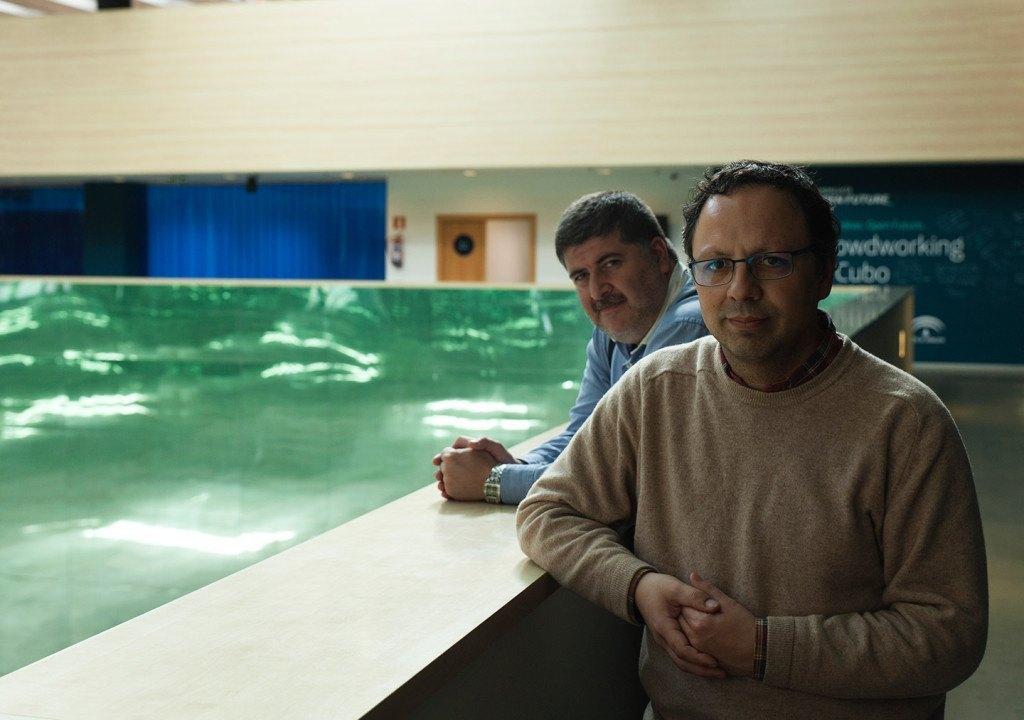 En la imagen, responsables técnicos de El Cubo, cuya labor consiste en tutorizar los proyectos