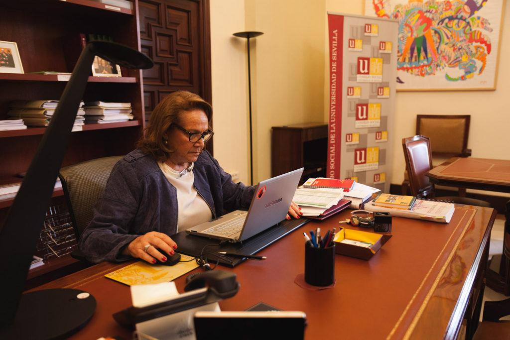 Concha Yoldi ha formado parte en los últimos años del Consejo Social de la Universidad Pablo de Olavide